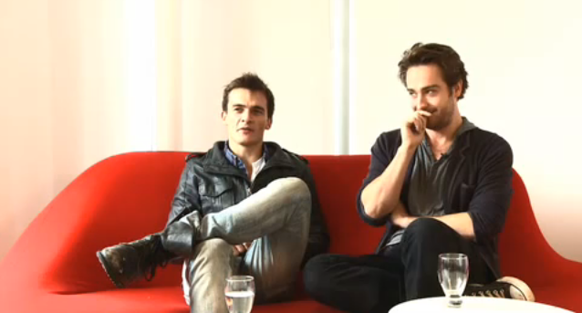 Screencap - Interview with Tom and Rupert